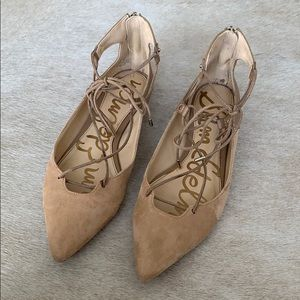 Sam Edelman pointed toe flats in nude